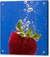 Strawberry Soda Dunk 5 Acrylic Print by John Brueske