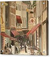 Street Scene In Brussels Acrylic Print by Veronica Coulston