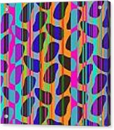 Stripe Beans Acrylic Print by Louisa Knight