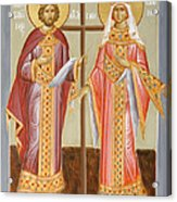 Sts Constantine And Helen Acrylic Print by Julia Bridget Hayes