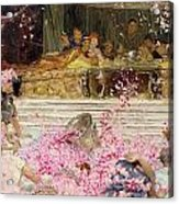 Study For The Roses Of Heliogabulus Acrylic Print by Sir Lawrence Alma-Tadema