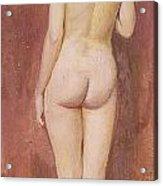 Study Of A Nude Acrylic Print by Murray Bladon