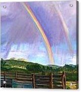 Summer Rain At The Ranch Acrylic Print by Rita Lackey