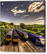 Summer Saturday At Aller Junction Acrylic Print by Rob Hawkins