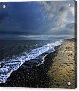 Sun Light On Dunwich Beach Acrylic Print by Darren Burroughs