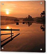 Sunrise At Knapps Loch Acrylic Print by Grant Glendinning