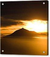sunrise behind Mount Teide Acrylic Print by Ralf Kaiser