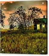 Sunrise On The Prairie Acrylic Print by Matthew Winn