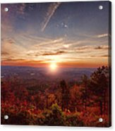 Sunrise-talimena Scenic Drive Arkansas Acrylic Print by Douglas Barnard