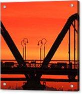 Sunrise Walnut Street Bridge Acrylic Print by Tom and Pat Cory