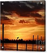 Sunset 1-1-12 Acrylic Print by Lynda Dawson-Youngclaus