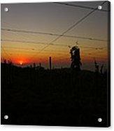 Sunset 3 Acrylic Print by Jl Zufiria
