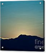 Sunset At Horsetooth Rock Acrylic Print by Harry Strharsky