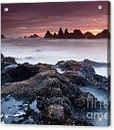 Sunset At Seal Rock Acrylic Print by Keith Kapple