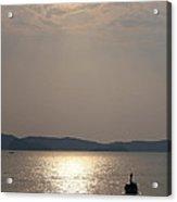 Sunset At The Beach Acrylic Print by Nawarat Namphon