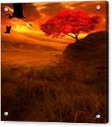 Sunset Duet Acrylic Print by Lourry Legarde