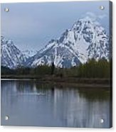 Sunset Grand Tetons Acrylic Print by Charles Warren