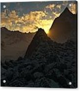Sunset In The Stony Mountains Acrylic Print by Hakon Soreide
