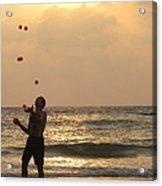 Sunset Juggling Acrylic Print by Stav Stavit Zagron
