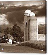 Sunset On The Farm S Acrylic Print by David Dehner