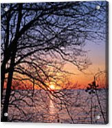 Sunset Silhouette 1 Acrylic Print by Peter Chilelli