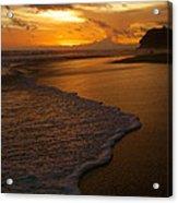 Sunset Surf Playa Hermosa Costa Rica Acrylic Print by Michelle Wiarda