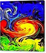 Sunset Swirl Acrylic Print by Stephen Younts