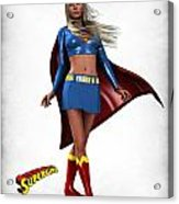 Super Girl Acrylic Print by Frederico Borges