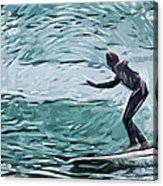Surf Acrylic Print by Tilly Williams