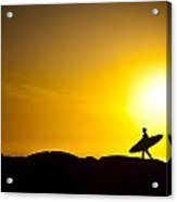 Surfer's Dawn Acrylic Print by Zarija Pavikevik
