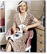 Suzy, Jean Harlow, 1936 Acrylic Print by Everett