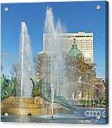 Swann Fountain At Logan's Circle Acrylic Print by John Greim