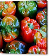 Sweet Peppers Acrylic Print by Guy Harnett