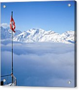 Swiss Alps Panorama Acrylic Print by Image by Christian Senger