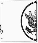 Symbols: U.s. Army Acrylic Print by Granger
