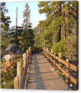 Tahoe Bridge Acrylic Print by Silvie Kendall