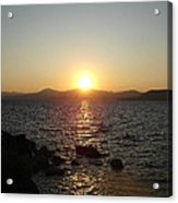 Tahoe Sunset Acrylic Print by Silvie Kendall