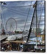 Tall Ships At Navy Pier Acrylic Print by David Bearden