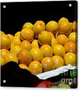 Tangerines For Sale Acrylic Print by Tim Mulina