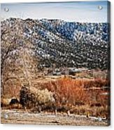 Taos Mountain View 1 Acrylic Print by Lisa  Spencer