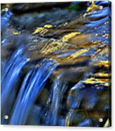 Taylor Waterfall Acrylic Print by David Clark