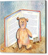 Tea Bag Teddy Acrylic Print by Arline Wagner