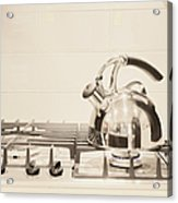 Tea Kettle On Stove Acrylic Print by Andersen Ross