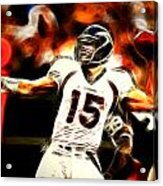Tebow Acrylic Print by Paul Van Scott