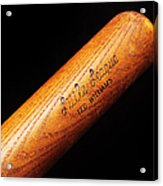 Ted Williams Little League Baseball Bat Acrylic Print by Andee Design
