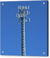 Telecommunications Tower Acrylic Print by Eddy Joaquim