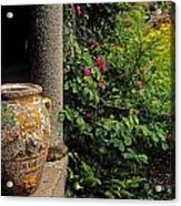 Temple And Garden Urn, The Wild Garden Acrylic Print by The Irish Image Collection