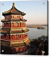 Temple Of The Fragrant Buddha Acrylic Print by Mike Reid