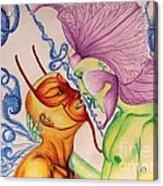 Temptation Acrylic Print by Isaac Lopez