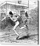 Tennis: Wimbledon, 1880 Acrylic Print by Granger